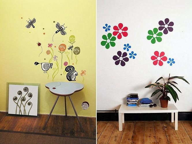 Как нарисовать на стене в комнате своими руками