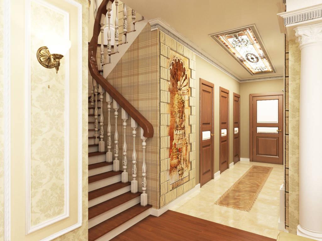Дизайн и прихожей и холла