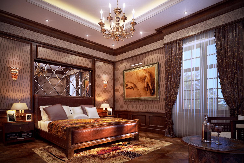 Спальня классика интерьер фото
