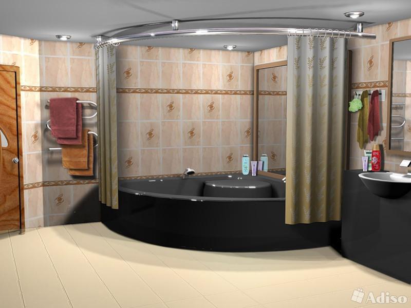 Дизайн ванны большого размера