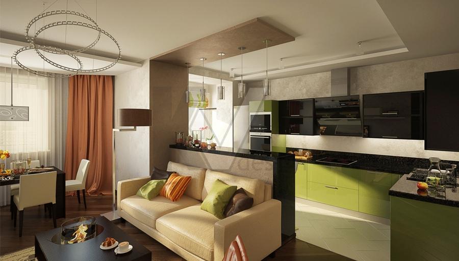 Кухни дизайн проекты 20 кв метров 53