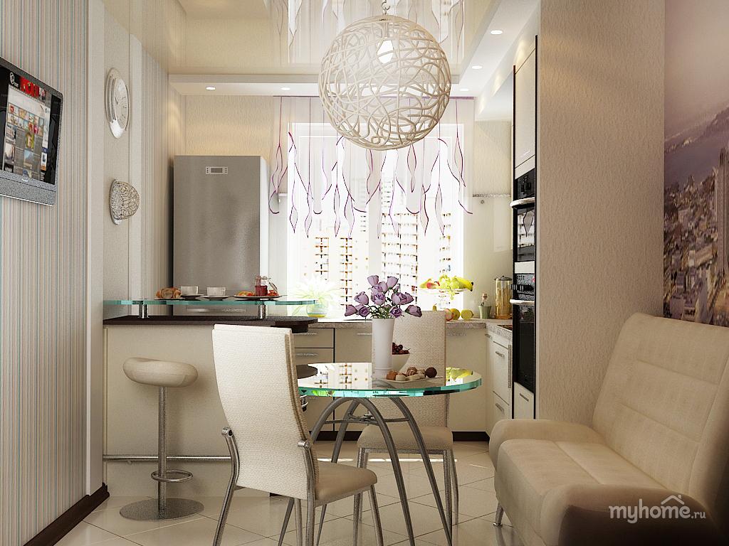 Дизайн кухни в однушке
