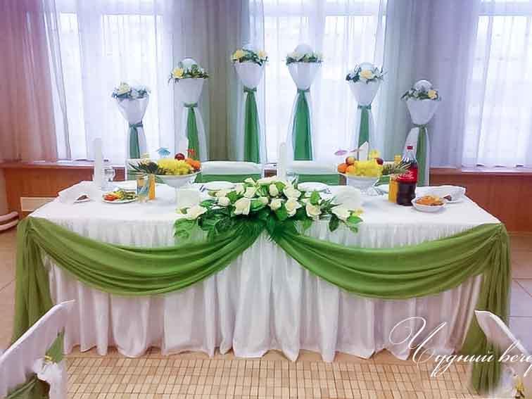 Украшение стола для жениха и невесты своими руками