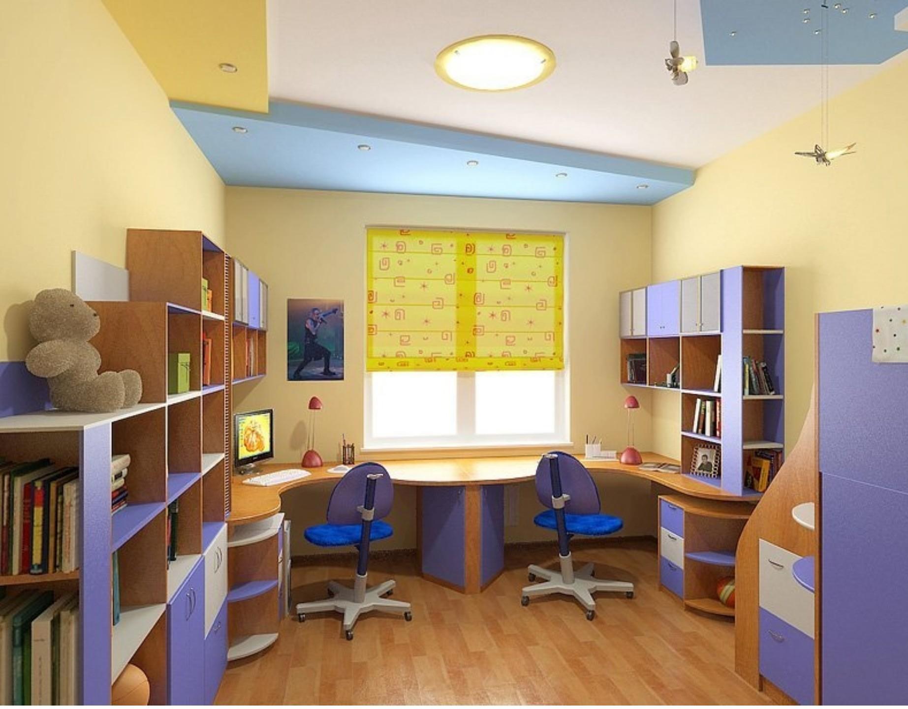 Детская комната для двух мальчиков - фото и идеи дизайна.