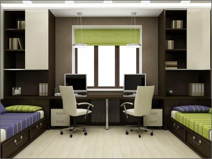 Дизайн детской комнаты для двух мальчиков подростков