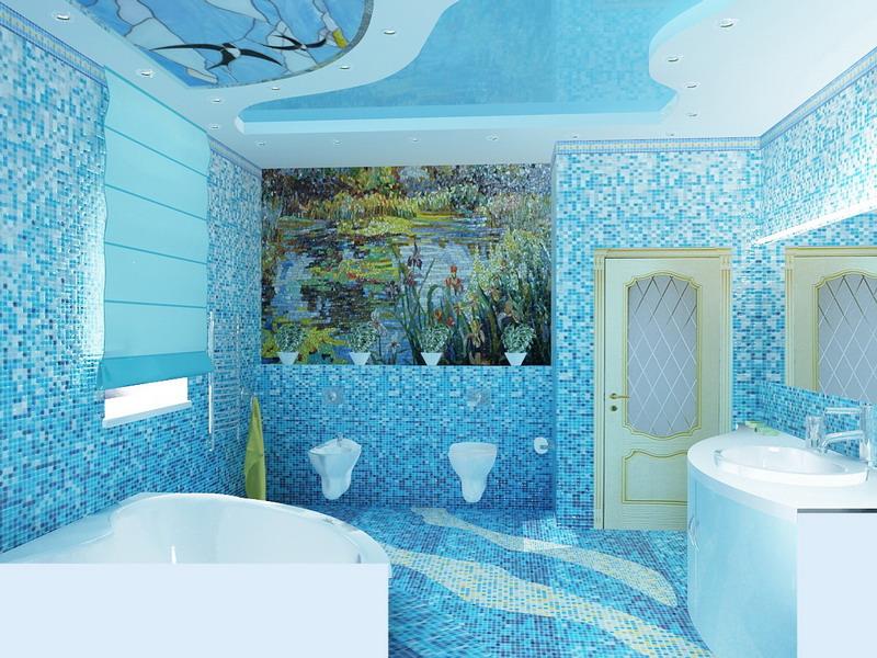 Фото дизайн ванной комнаты в коттедже