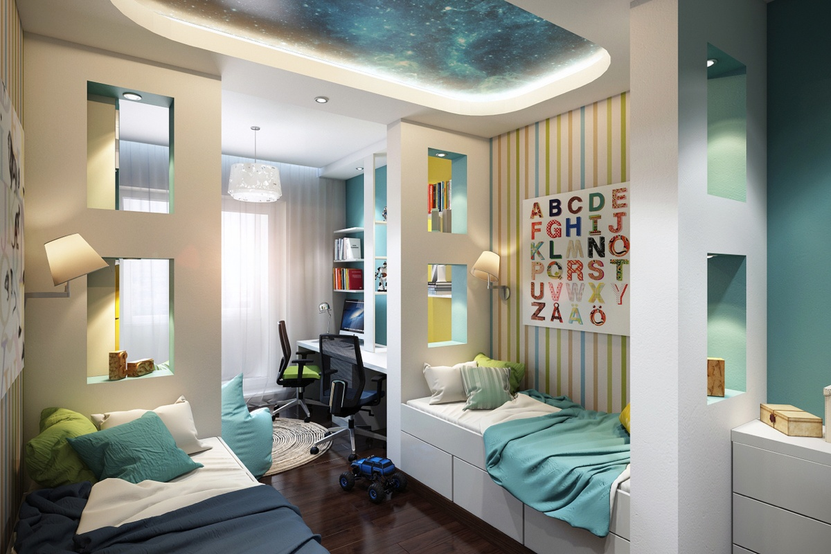 Дизайн квартир детская для двоих