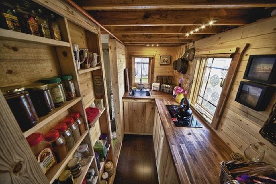 Интерьеры деревянных небольших домов