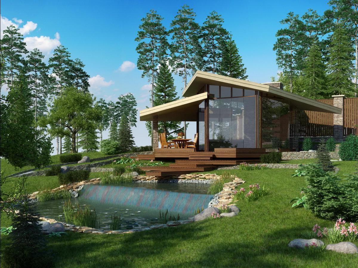 Дизайн участков частных домов