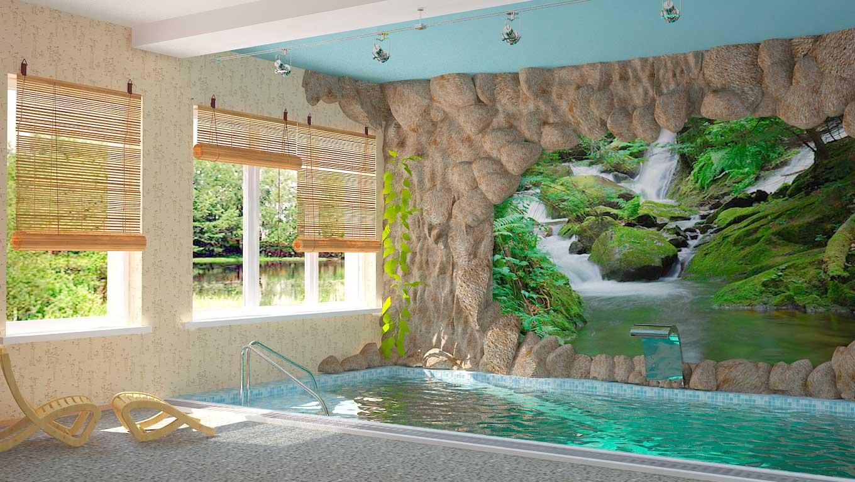 Дизайн бассейна в сауне