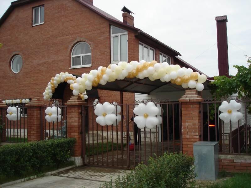 Украшение дворов частных домов на свадьбу