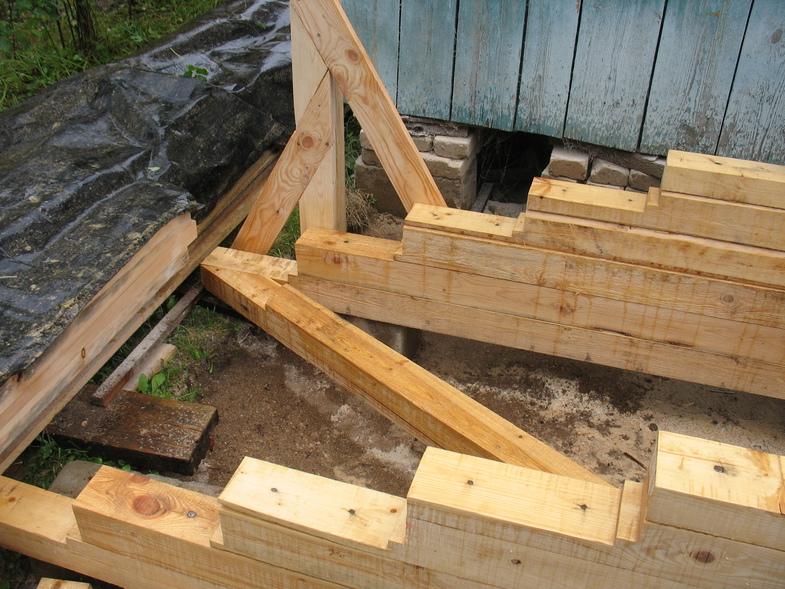 Построить крыльцо к деревянному дому видео