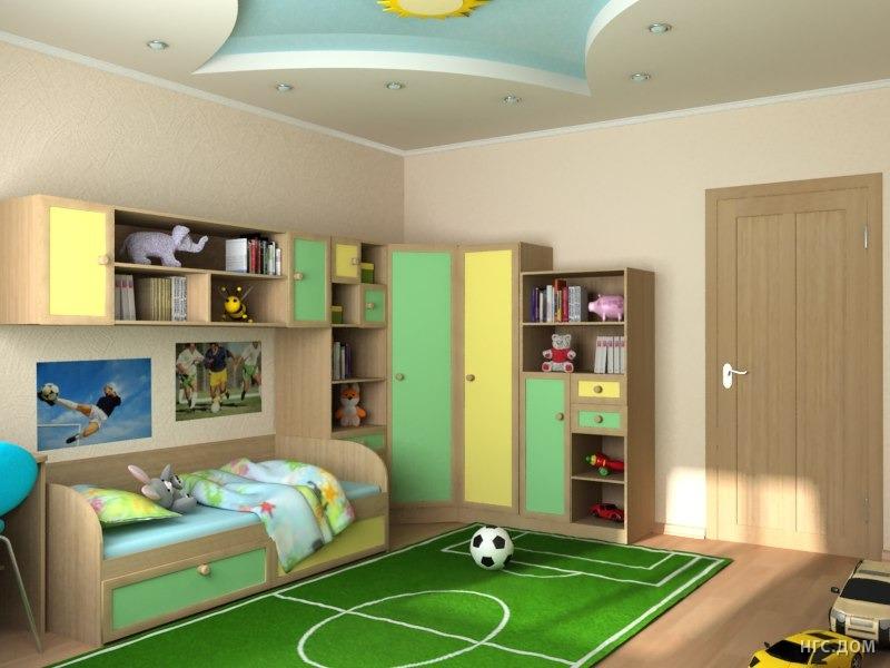Фото дизайнов детских комнат для мальчика