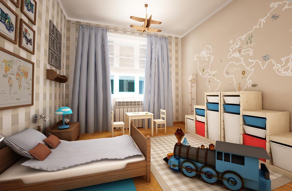 Интерьер детские комнаты для мальчиков фото