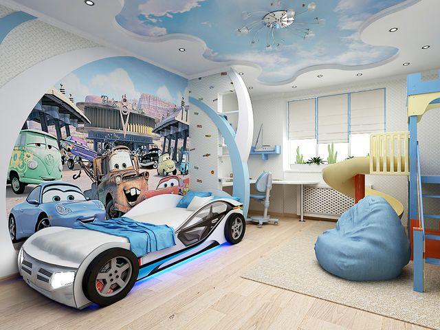Фото интерьеров детской комнаты для мальчика