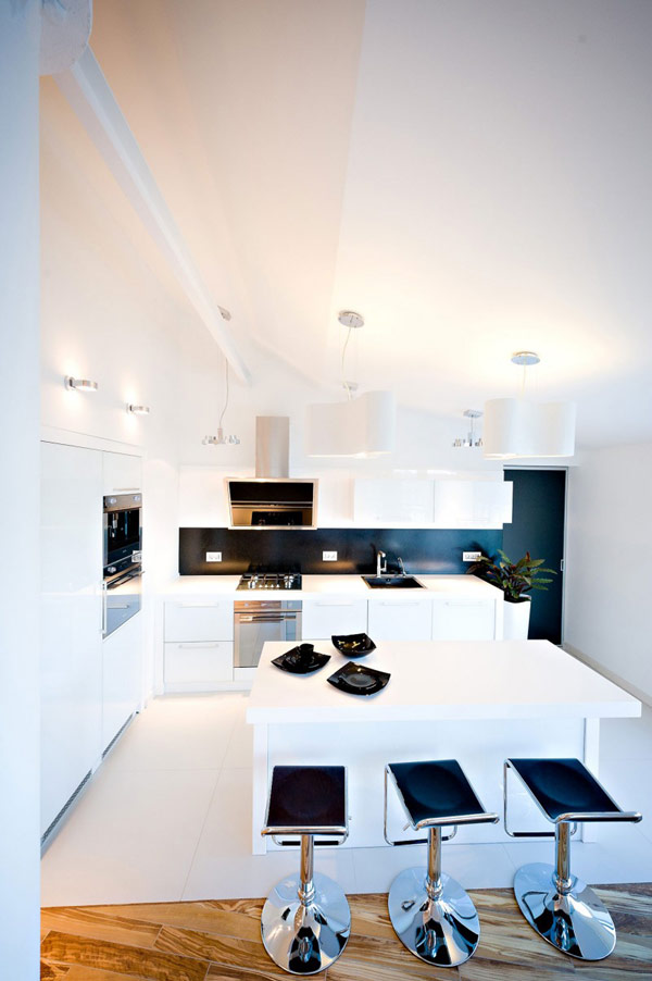 Дизайн современных белых квартир с интерьерами