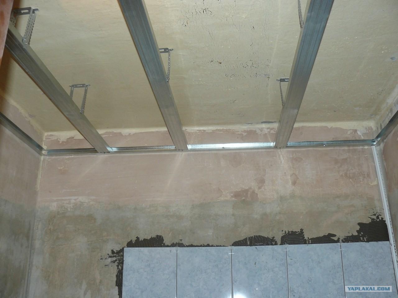 Как правильно сделать потолок в ванной из панелей 465