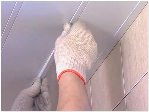 Потолки для ванной комнаты реечные своими руками