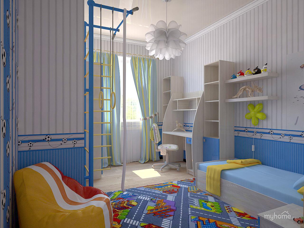 Детская комната для мальчиков интерьер фото