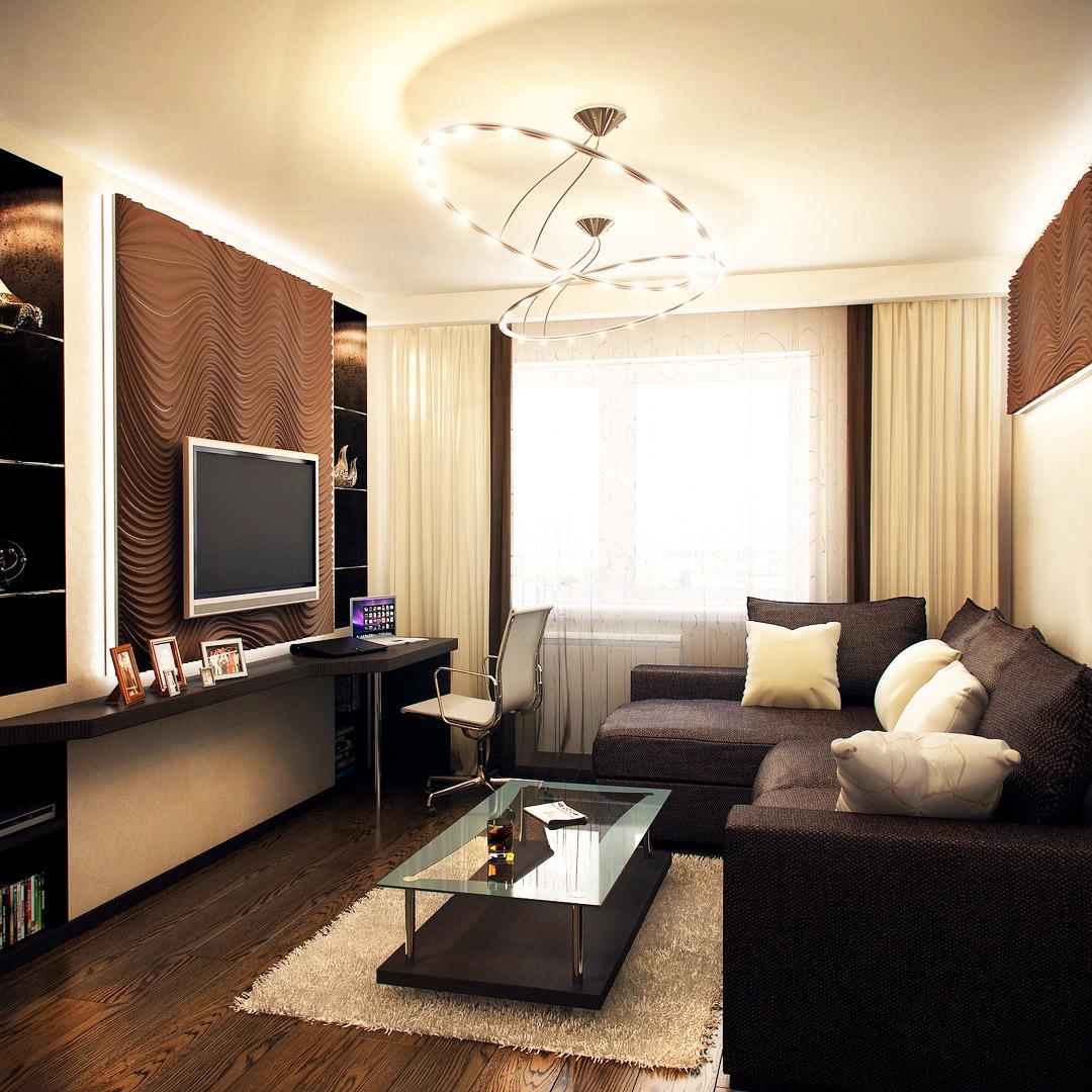 Маленький зал в квартире интерьер фото