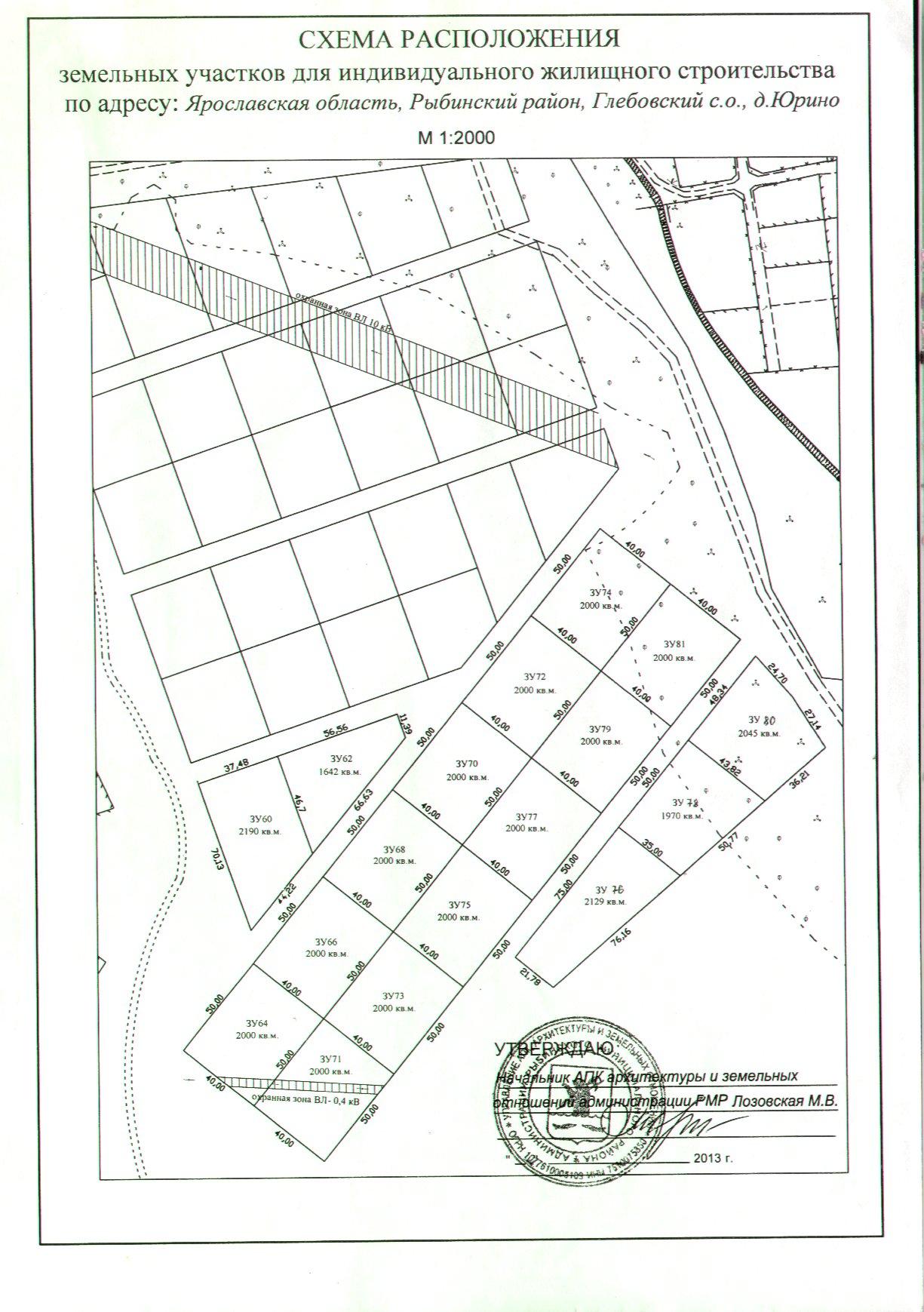 Схема размещения объекта на муниципальных землях
