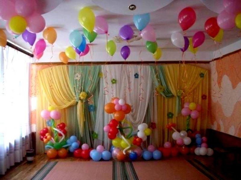 Как украсить зал на день рождения ребёнка своими руками