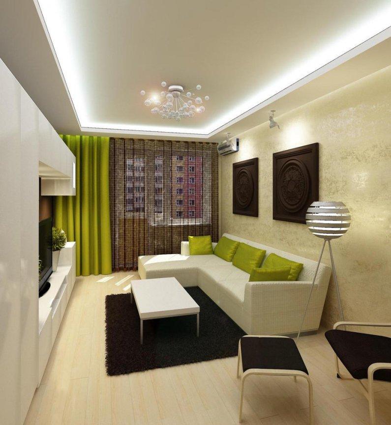 Дизайн гостиной 13 метров