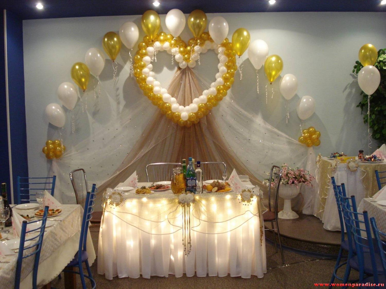 Бюджетное оформление свадебного зала своими руками фото