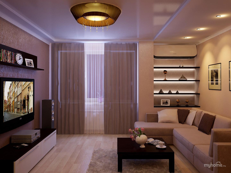 Интерьер гостиной 16 кв.м в квартире фото