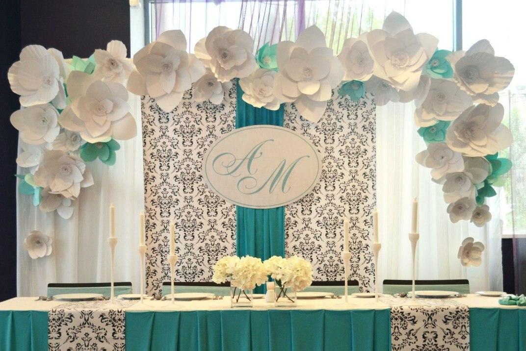 Украшение зала своими руками свадьбу