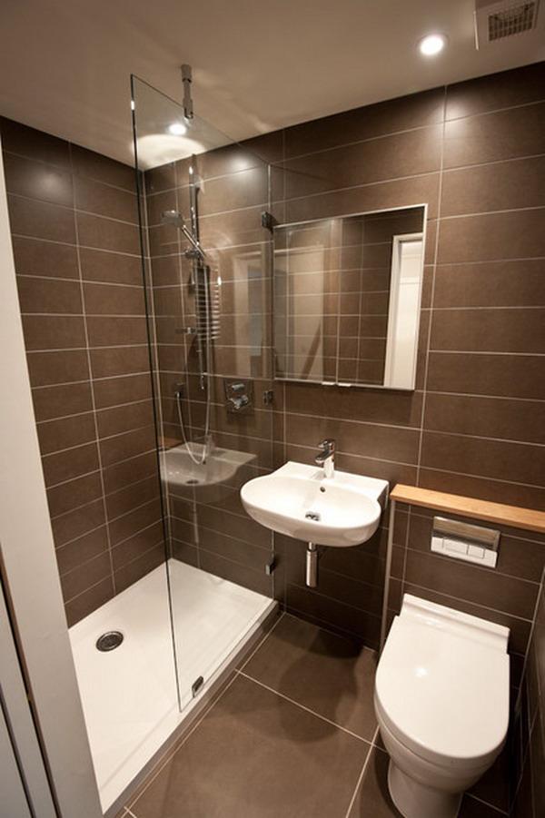Дизайн душевой комнаты маленького размера