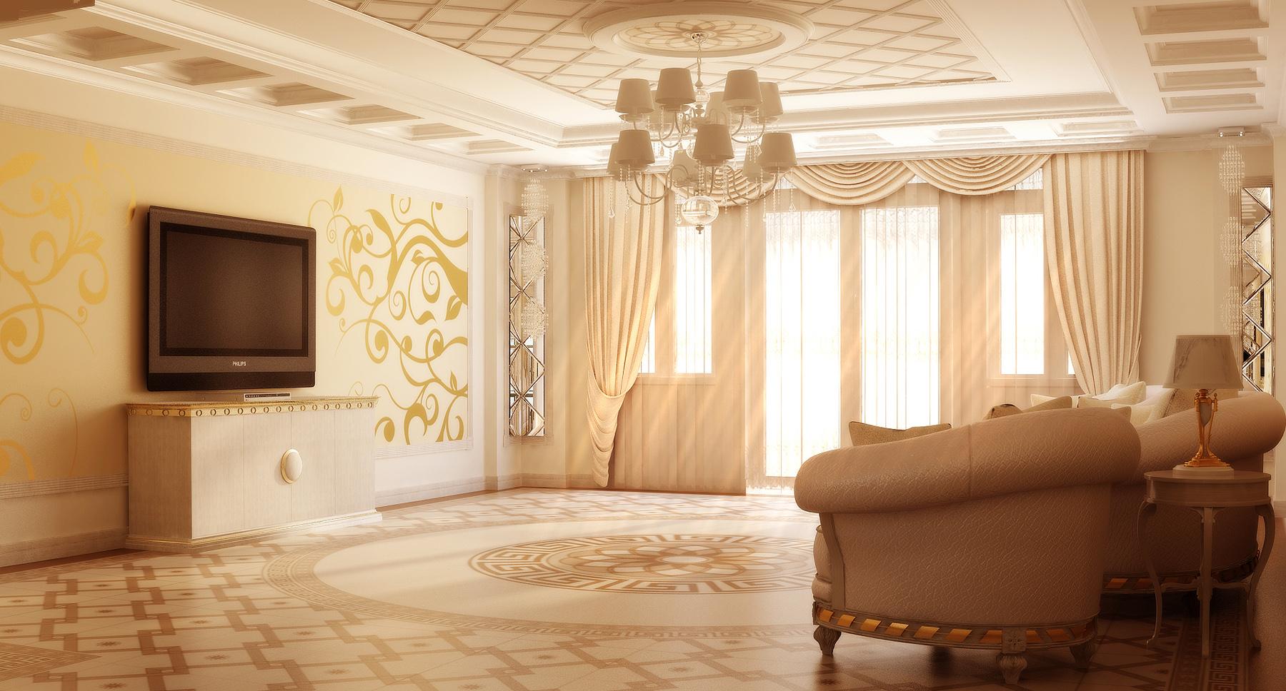 Фото интерьеров зала в доме