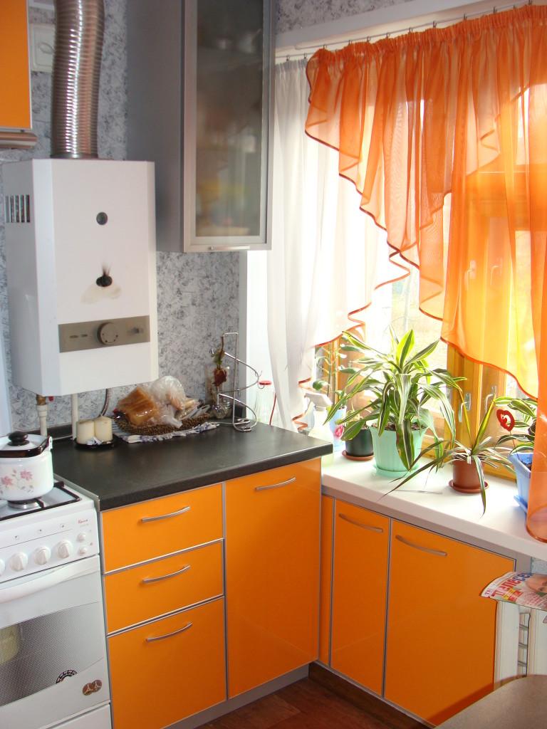 Дизайн шторы для маленькой кухни
