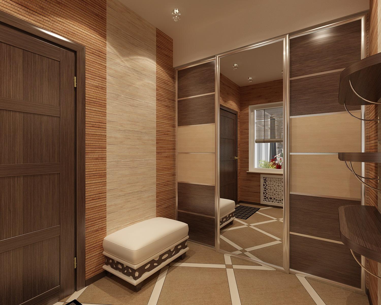 Дизайн квадратной прихожей в частном доме