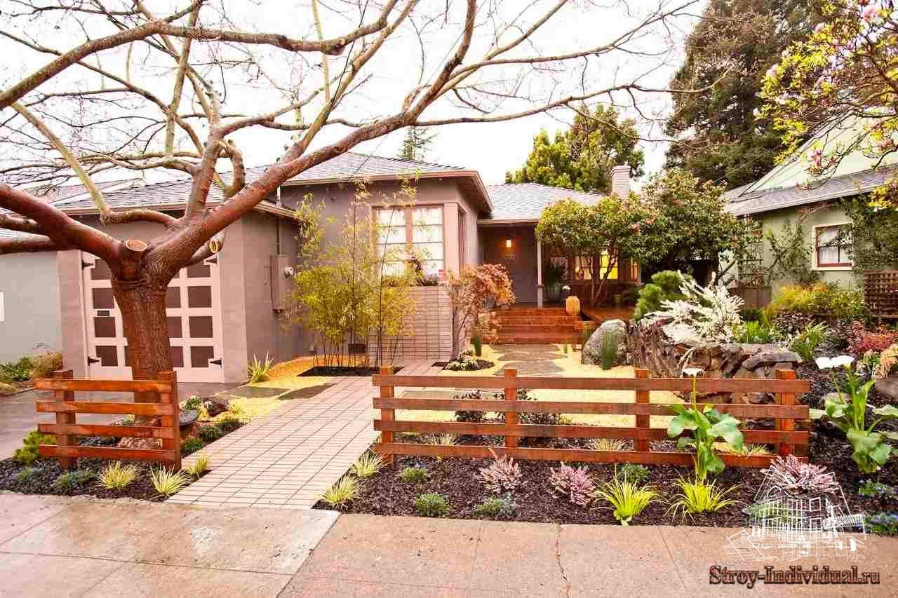 Фото дизайн двора частного сельского дома