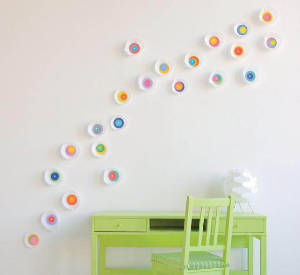 """Декор стены в детской своими руками """" Картинки и фотографии дизайна квартир, домов, коттеджей"""