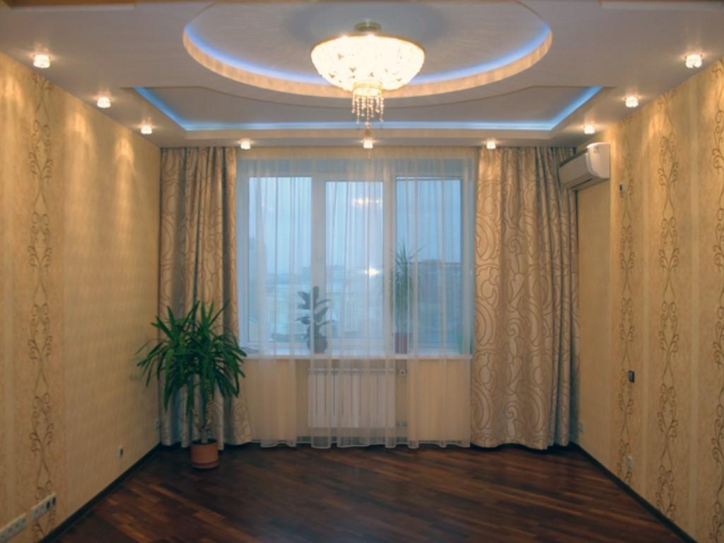Дизайн потолка в зале своими руками