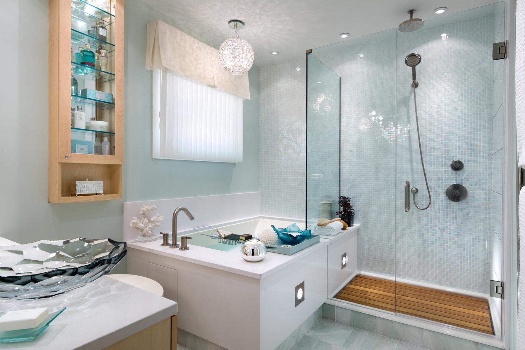 Смотреть фото интерьер ванной комнаты