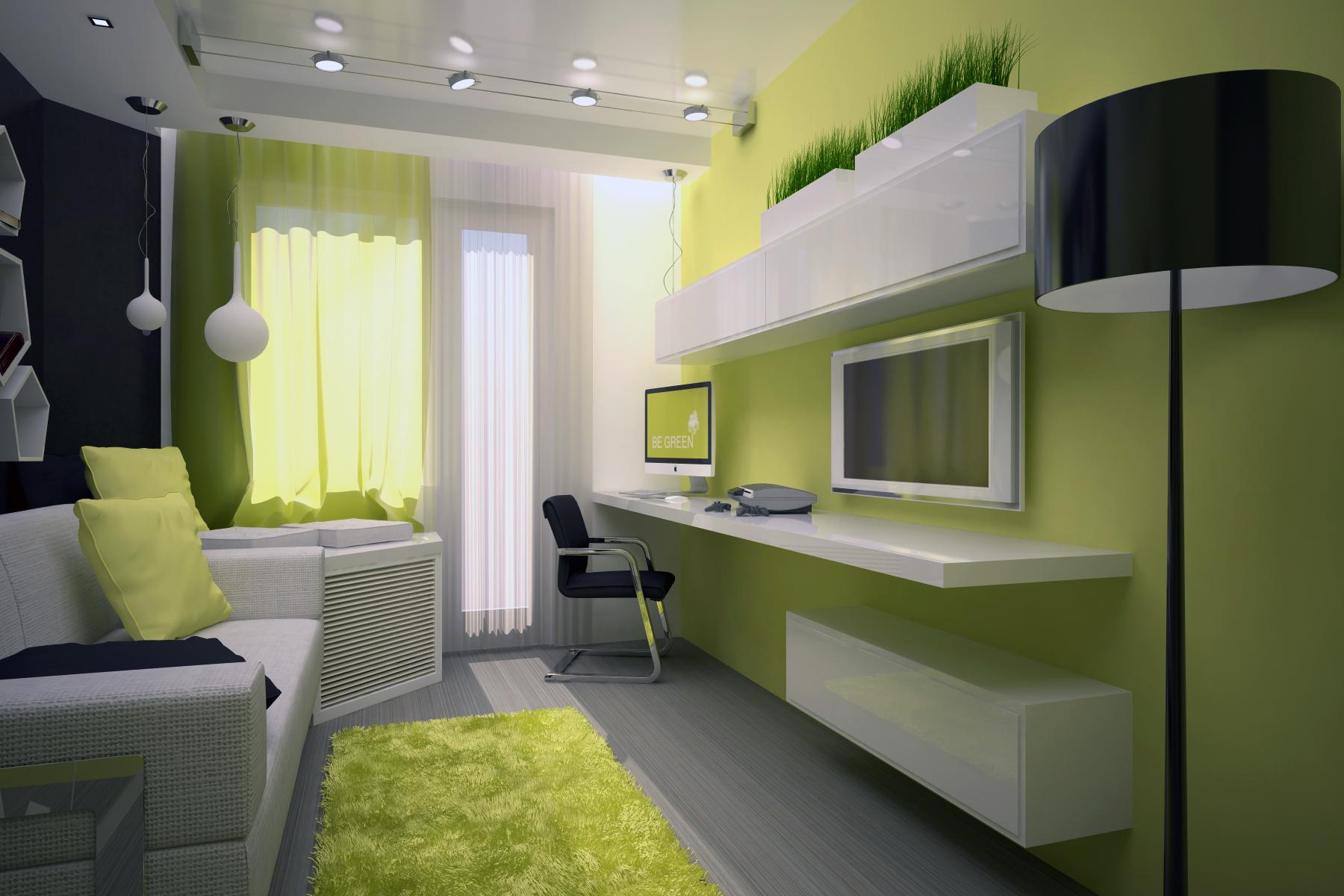 Комната 10 кв м дизайн прямоугольная
