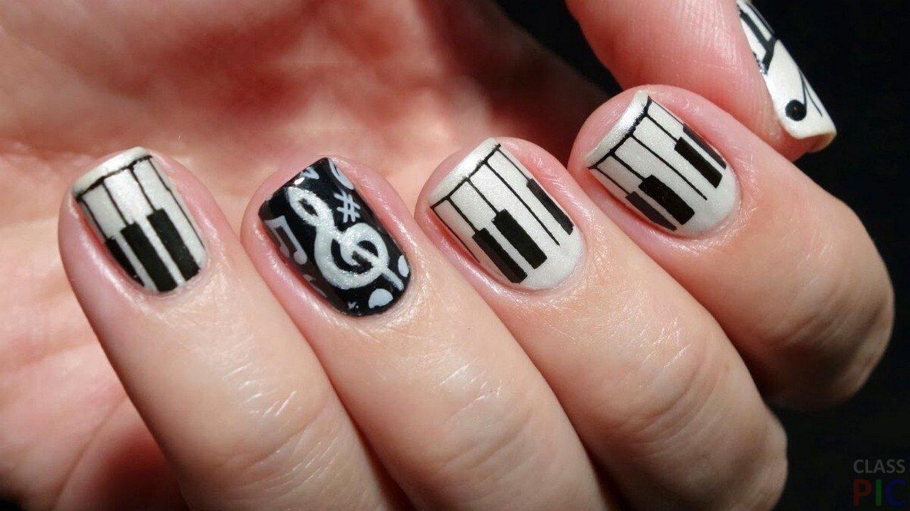 Фото музыкальный дизайн ногтей