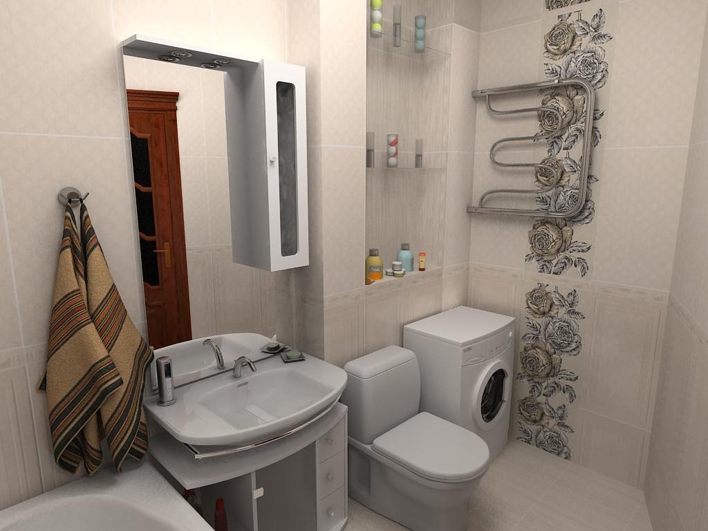 Дизайн ванной комнаты совмещенной с туалетом площадью