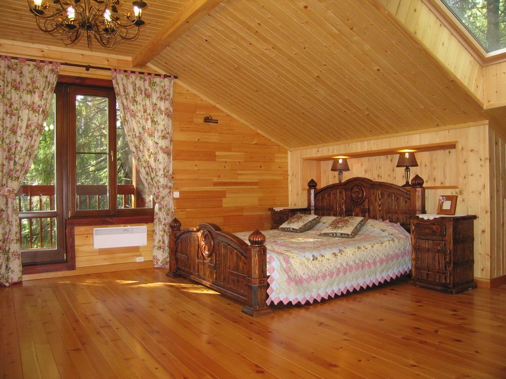 Интерьер внутренней отделки деревянного дома фото