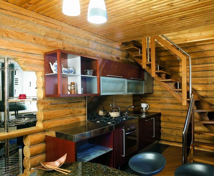 """Интерьер кухни в бане """" Картинки и фотографии дизайна квартир, домов, коттеджей"""