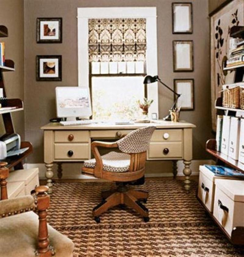 Дизайн маленький кабинет