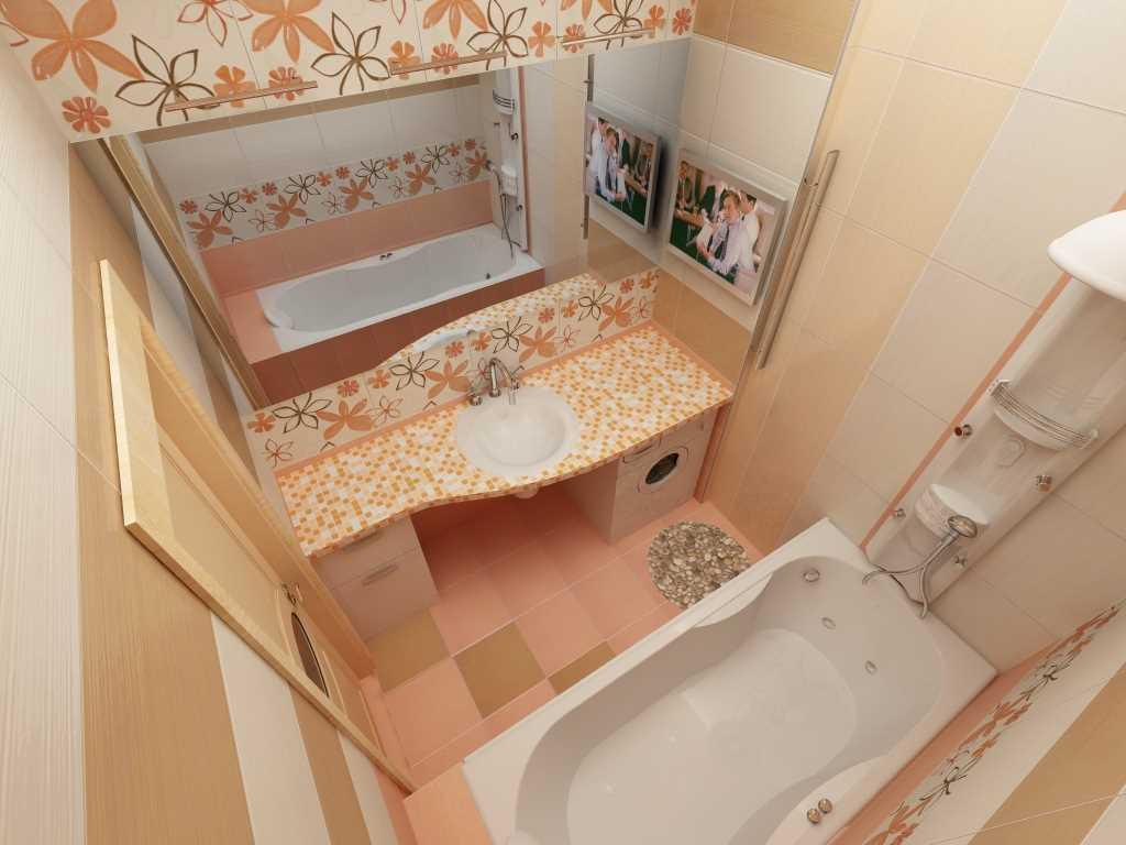 Интерьер в маленьких ванн