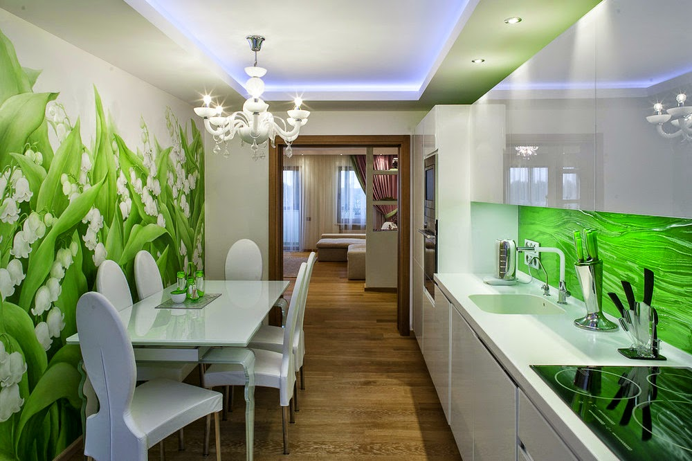 Дизайн кухни 9 кв м собоями