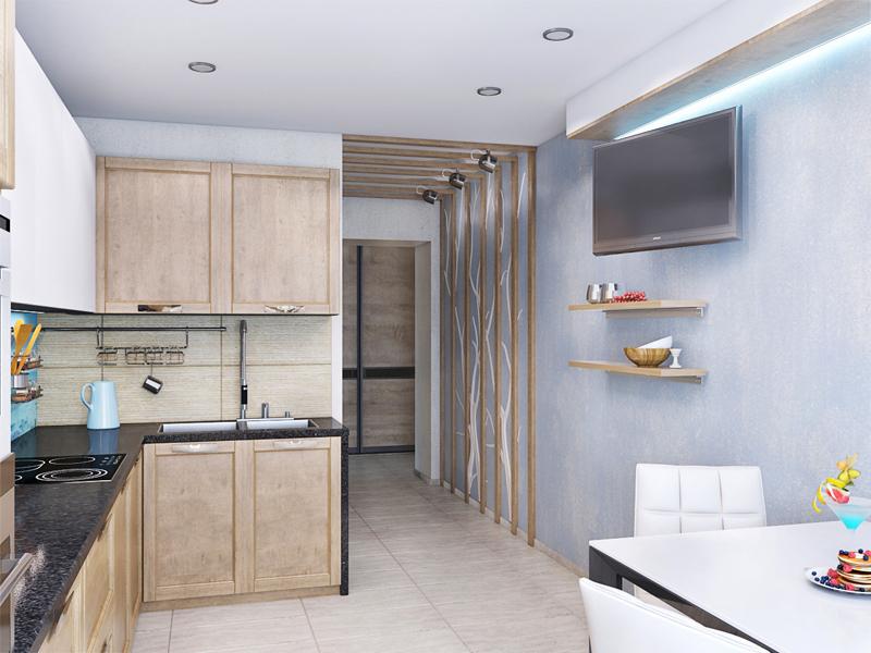 Дизайн в трехкомнатной квартире панельного дома