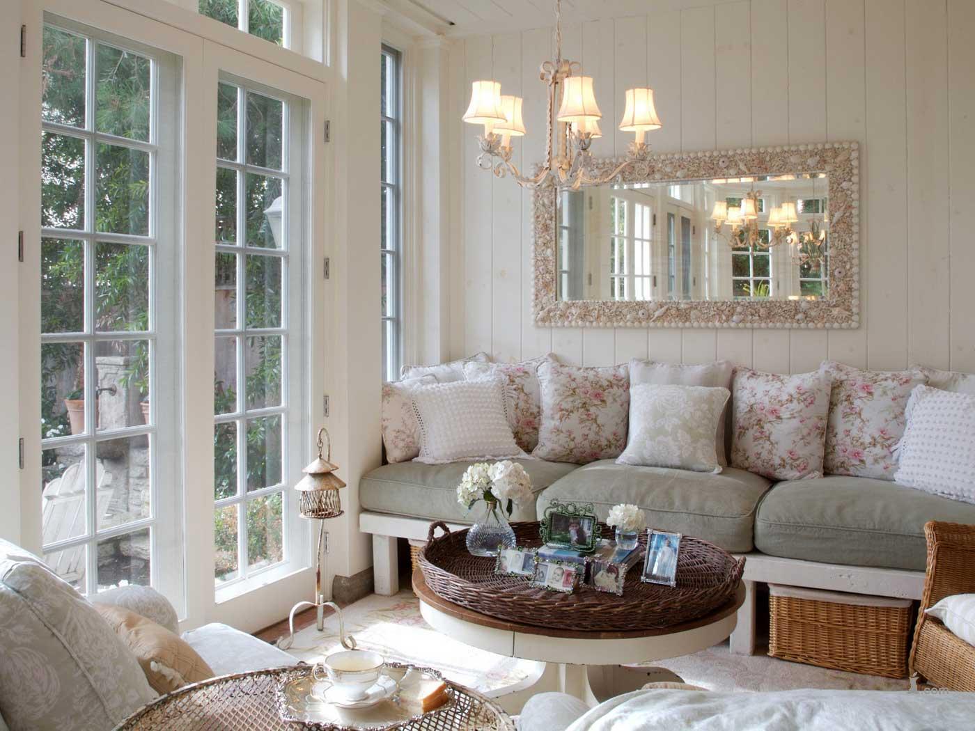 Стиль гостинная диван светлая  № 87491 загрузить