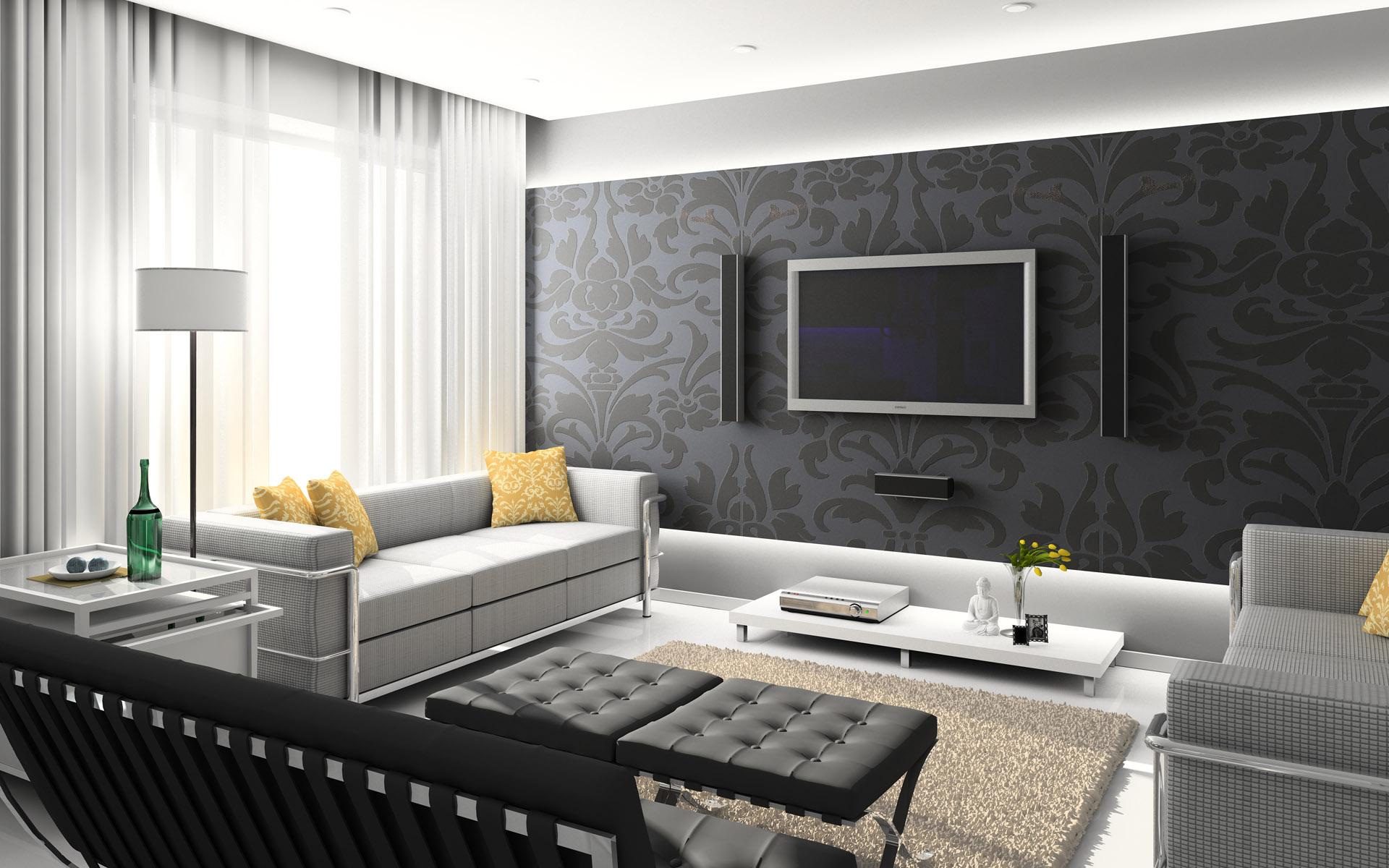 Современный дизайн стен в квартире