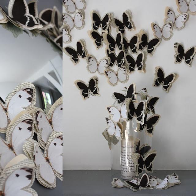 """Декорирование стен бабочками своими руками """" Картинки и фотографии дизайна квартир, домов, коттеджей"""